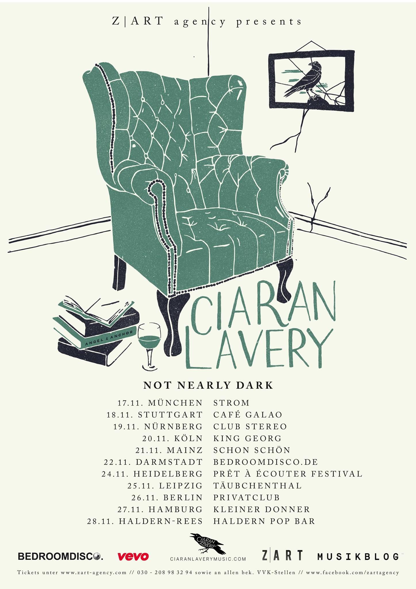 """Ciaran Lavery veröffentlicht Album """"Not Nearly Dark"""" über Zart Records"""